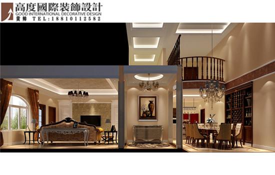 别墅 托斯卡纳 楼梯图片来自高度国际装饰黄帅在香江别墅430平米托斯卡纳展示的分享