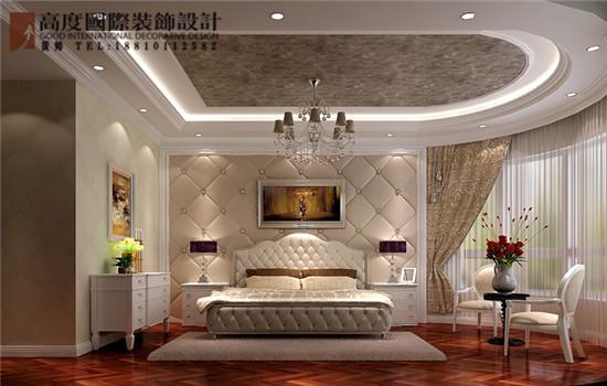 简约 欧式 三居 卧室图片来自高度国际装饰黄帅在天润福熙大道251平简欧效果展示的分享