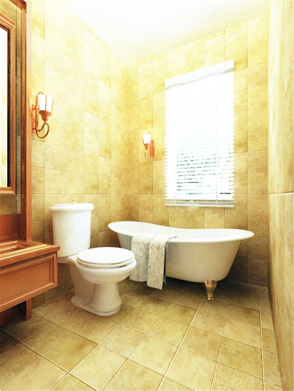 卫生间的用品都靠墙摆放,增加空间。接下来是主卧,主卧的吊顶采用回字形加脚线,中间是吊灯装饰,床头是方格块,里面是淡绿色碎花壁纸,中间是镜面。