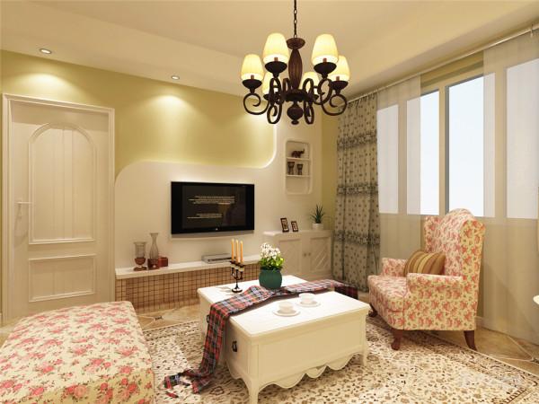 此户型为宏城御溪园,两室两厅一厨一卫,面积为90.77㎡。风格为田园风格。