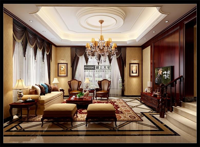 简约 欧式 别墅 白领 峰上大宅装 西溪玫瑰 客厅图片来自建极峰上大宅装饰杭州公司在西溪玫瑰诺丁苑:不刻意的奢华的分享