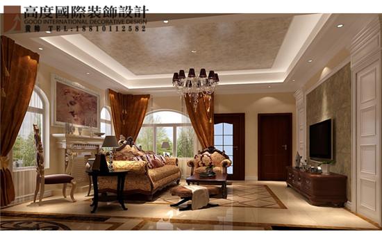欧式 别墅 客厅图片来自高度国际装饰黄帅在36W打造香山第一独栋别墅的分享