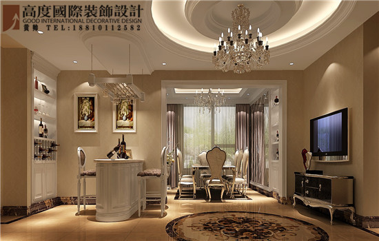 简约 欧式 三居 白领 餐厅图片来自高度国际装饰黄帅在K2百合湾190平简欧设计效果展示的分享