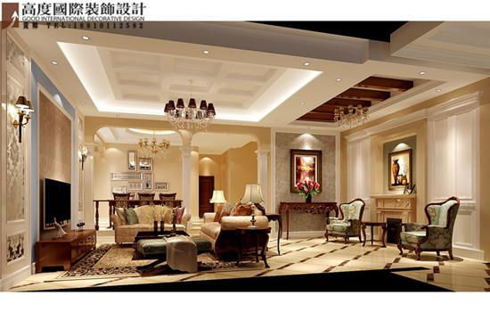混搭 客厅图片来自高度国际装饰黄帅在潮白河孔雀城380平米混搭展示的分享