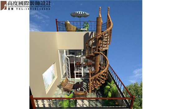 混搭 阳台图片来自高度国际装饰黄帅在潮白河孔雀城380平米混搭展示的分享
