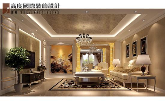 简约 欧式 三居 客厅图片来自高度国际装饰黄帅在天润福熙大道251平简欧效果展示的分享