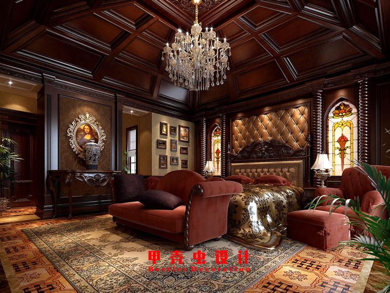 合肥碧湖云溪别墅新古典风格装修设计效果图--主卧