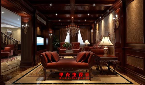 合肥碧湖云溪别墅新古典风格装修设计效果图--会客厅