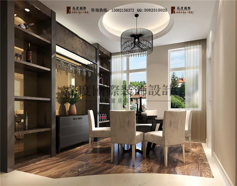 高度国际 餐厅图片来自成都高端别墅装修瑞瑞在180平米港式现代-成都高度国际的分享