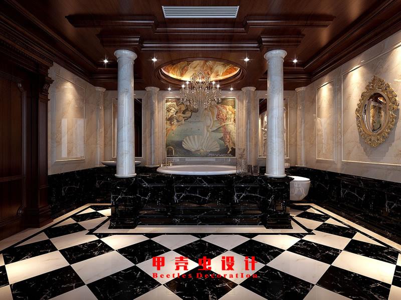 合肥碧湖云溪别墅新古典风格装修设计效果图--浴室