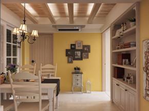 简约 地中海 温馨 舒适 餐厅图片来自成都生活家装饰在123㎡温馨地中海风格三居室的分享