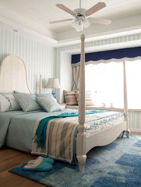 简约 地中海 温馨 舒适 卧室图片来自成都生活家装饰在123㎡温馨地中海风格三居室的分享