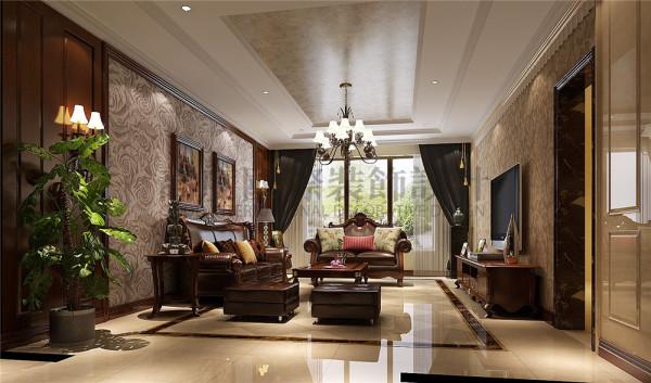 恒大金碧天下客厅效果细节图 成都高度国际装饰设计