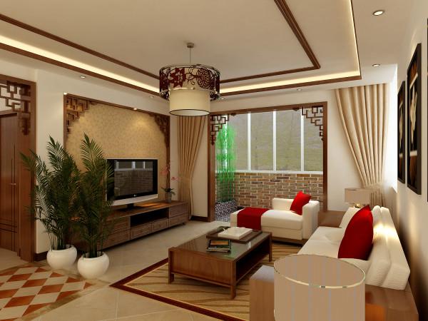 整体围绕着中式的大气,稳重来作为贯穿整体方案来进行。顶面实木的木线,以及中式的角花,搭配中式的家具,让整个客厅充满了浓重的中式色彩。