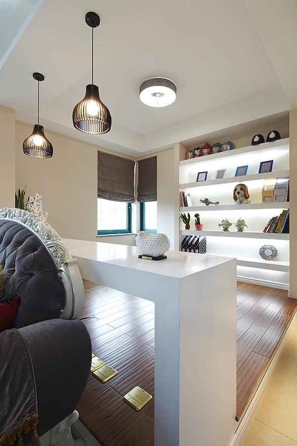 简约 欧式 三居 白领 80后 温馨 书房图片来自孙进进在140平简欧温馨时尚公寓的分享