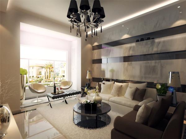 现代中式的起居室有的不只是简约,更多的是意境和随意。