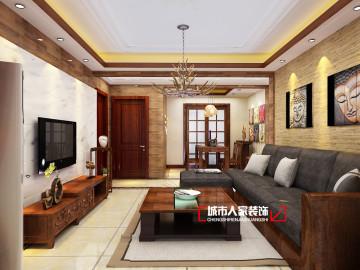 翰唐2号楼120平东南亚风格