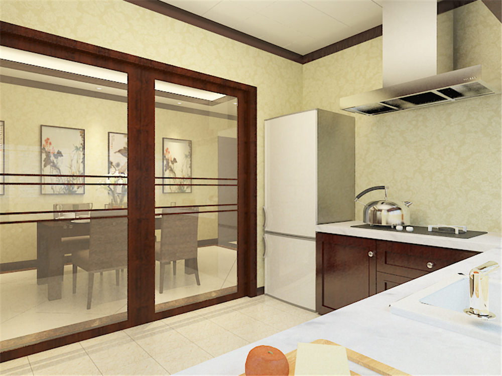 中式 别墅 白领 收纳 80后 小资 厨房图片来自阳光力天装饰在珑著-219㎡-中式风格的分享