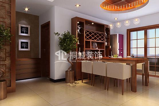 简约 中式 三居 餐厅 餐厅图片来自小兵无敌在简中-枫林意树的分享