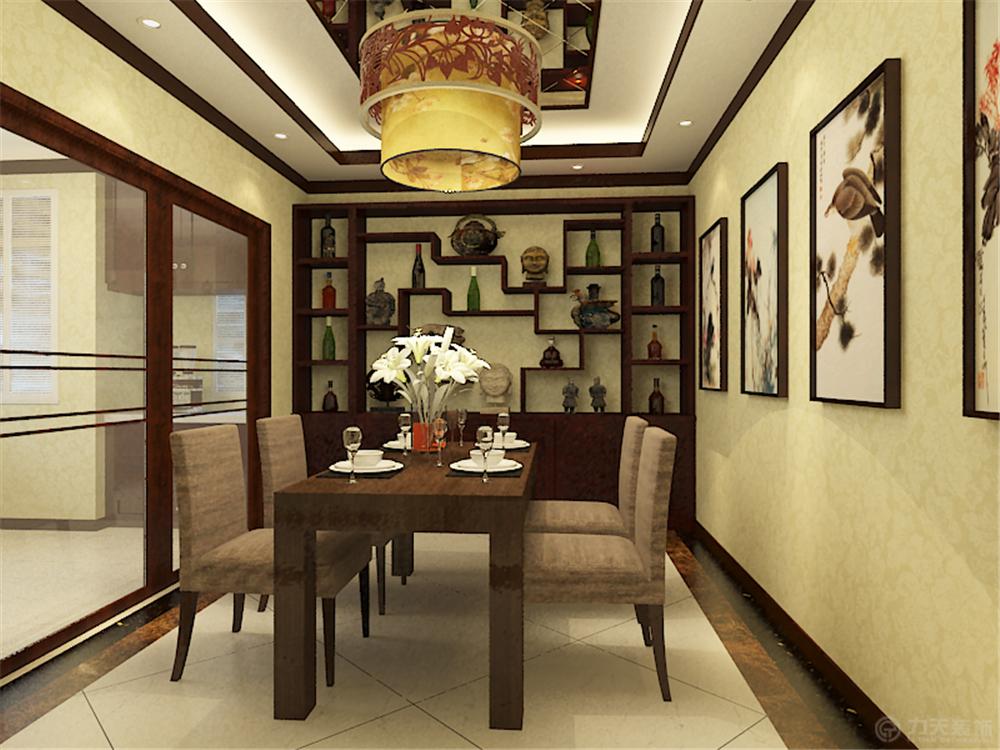 中式 别墅 白领 收纳 80后 小资 餐厅图片来自阳光力天装饰在珑著-219㎡-中式风格的分享