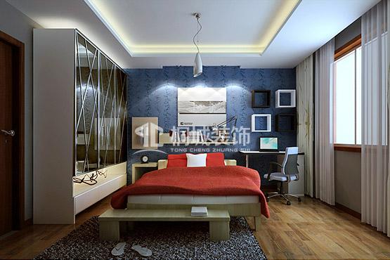 简约 中式 三居 卧室 卧室图片来自小兵无敌在简中-枫林意树的分享