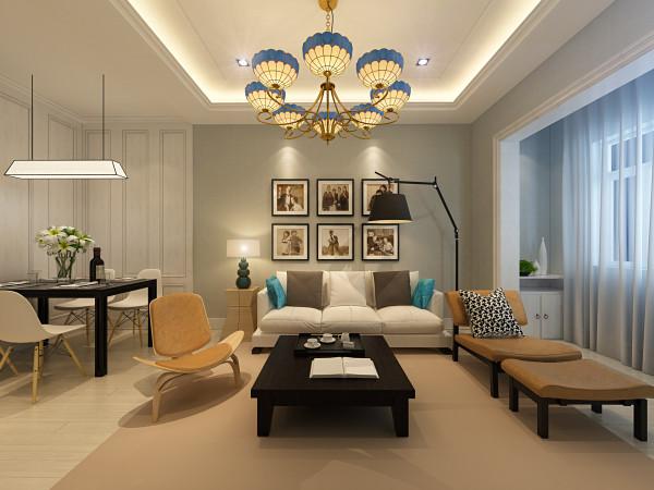 客厅以浅色系为主,使用了大量的蓝灰色调的空间,考虑到日常使用的生活习惯,选择了固定式屏风,清新的餐桌椅,搭配复古吊灯的装饰,细腻呈现独一无二的北欧风格。 引用到回复收集喜欢