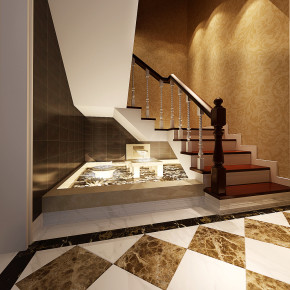 新古典 跃层 别墅 奢华 享受 小资 楼梯图片来自于平703在众泰欣苑--240新古典-白静的分享