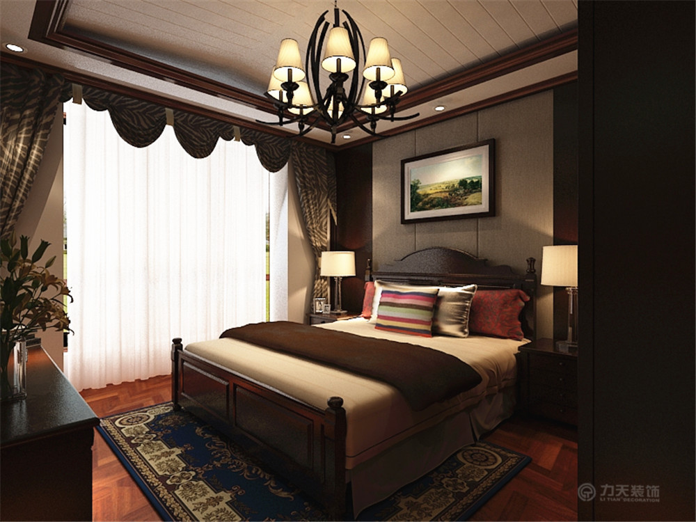 美式 二居 白领 收纳 80后 小资 卧室图片来自阳光力天装饰在奥莱城-96.00㎡-美式风格的分享