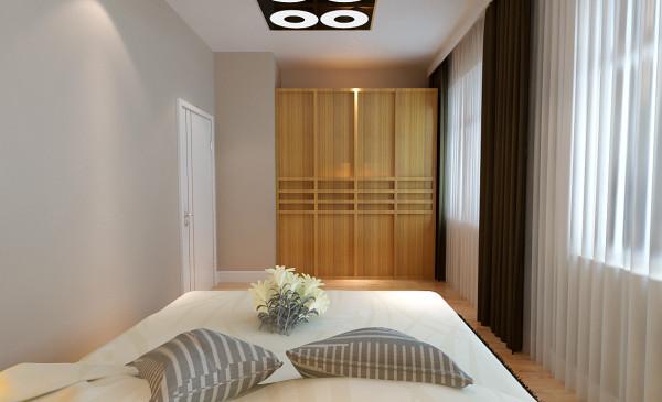 主要将原来的小卧室与书房打开,成为一个大卧室,有一个统一的空间,曾加了空间的自然光亮度,空间更大,给人以舒适放松的感觉。