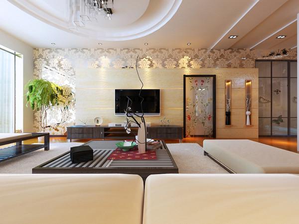 该户型为宏城御溪园两室两厅。设计风格为现代简约风格