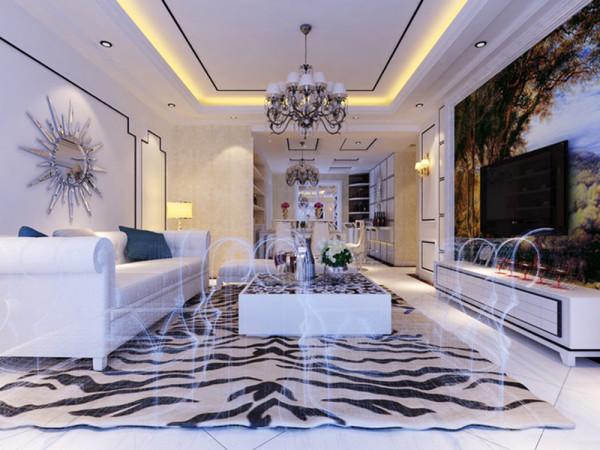 """本案为珑著三室两厅一厨两卫户型。这次的设计风格定义为""""欧式风格""""。"""