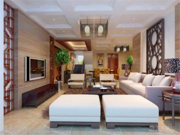 吉宝季景兰庭-235㎡-新中式风格