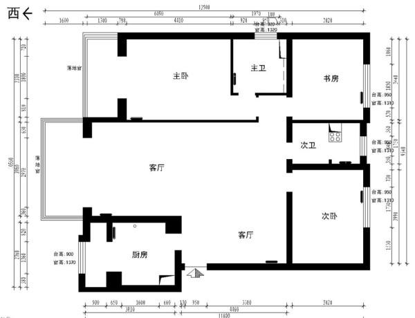 本案的户型的缺点是,门厅及客厅空间有些浪费,卫生间的门正对入户门,风水不好。设计师经过精密构思,在门厅处隔出来一个衣帽间,同时兼顾门厅的玄关装饰和鞋柜的实用功能。