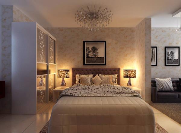 卧室的选用的是颜色素雅的颜色能让空间具有清晰整洁之感,在视觉心理上取得平衡感。在床上点缀几个颜色俏丽的床垫或在床头摆放几个活泼可爱的饰品,既可以让居室看起来清新整洁,更加宽敞,也不失活泼现代时尚。