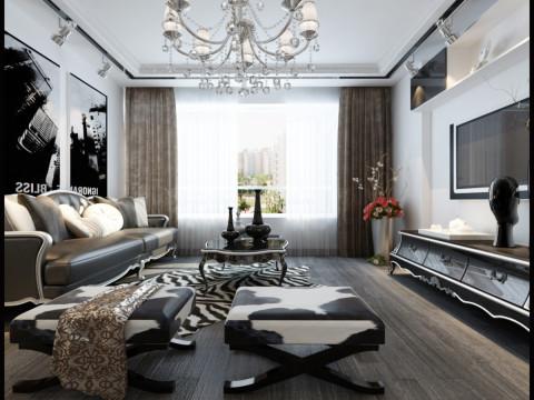 客厅图片来自装修顾问在中海寰宇93平简欧风格的分享
