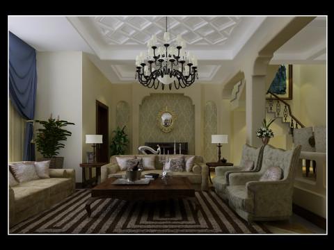 别墅 地中海 小资 收纳 白领 室内设计 沈阳装修 装修公司 客厅图片来自装修顾问在碧桂园的分享
