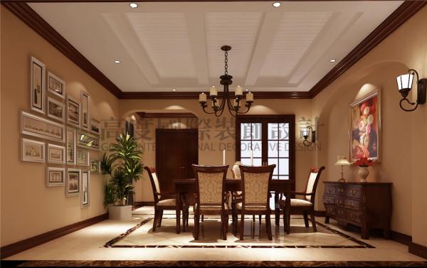 天鹅湖花园餐厅效果细节图 成都高度国际装饰设计