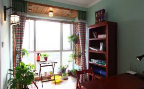 万业紫辰苑 三居 田园 实创 温馨 阳光 海岸 阳台图片来自上海实创-装修设计效果图在95平三居阳光海岸 温馨小屋的分享