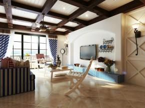 混搭 二居 简欧 地中海 小清新 客厅 客厅图片来自成都幸福魔方装饰工程有限公司在清新靓丽地中海混搭的分享