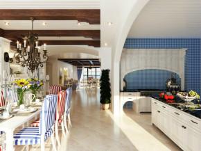 混搭 二居 简欧 地中海 小清新 客厅 餐厅 客厅图片来自成都幸福魔方装饰工程有限公司在清新靓丽地中海混搭的分享