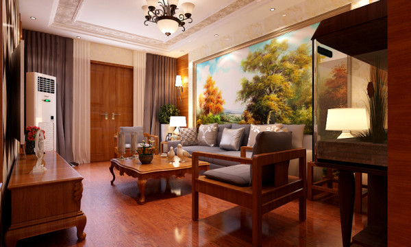 客厅沙发背景墙设计
