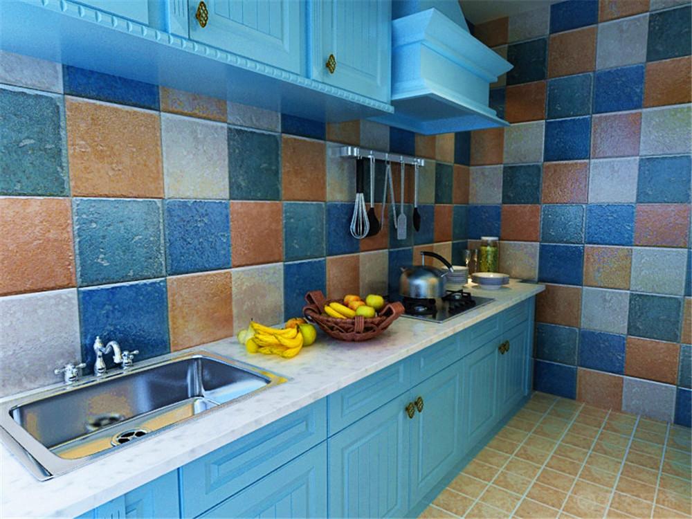 地中海 二居 收纳 白领 80后 小资 厨房图片来自阳光力天装饰在奥莱城-94.00㎡-地中海的分享