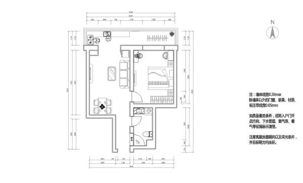 该方案地点是河北区的中宇里小区,是一个一室一厅一卫一厨南北通透的二手房,60平米,小两口居住,在和客户沟通后,了解了客户对居住的要求,一是储物空间要大,二是整体感觉要自然舒适。