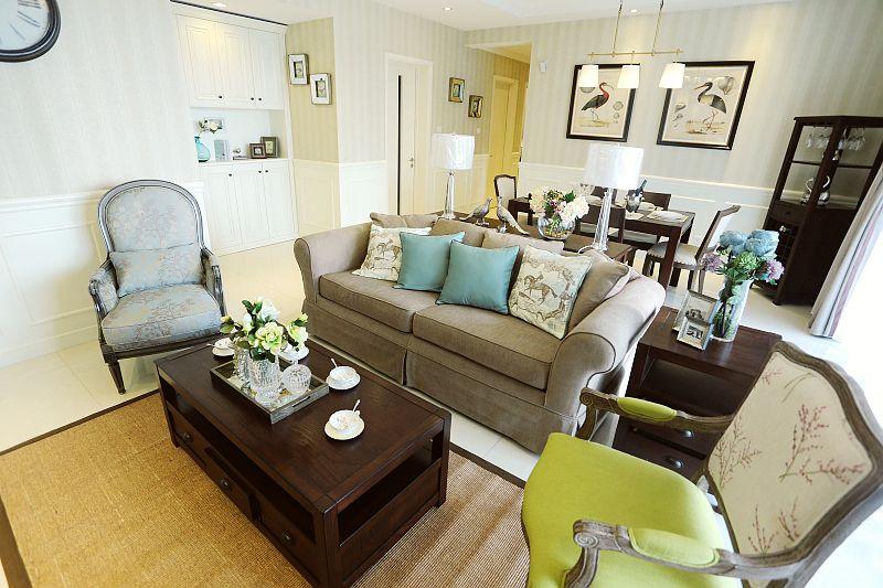 日升装饰 客厅图片来自装修设计芳芳在爱的归属,110平美式婚房的分享