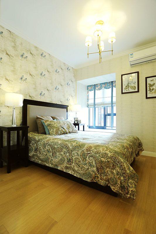 日升装饰 卧室图片来自装修设计芳芳在爱的归属,110平美式婚房的分享