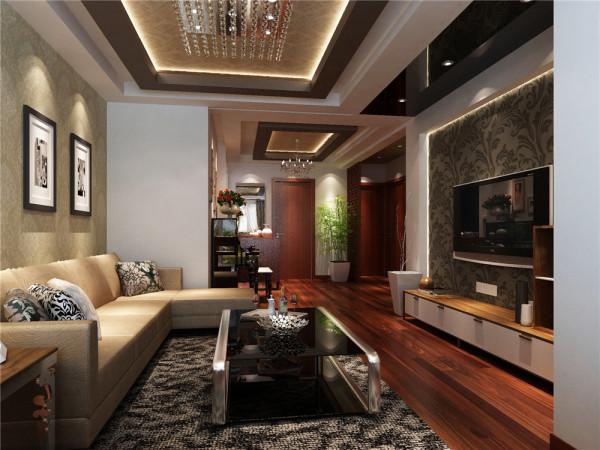 中式室内设计已成为现代都市生活彰显品质与实力的代表。并结合精英类人群的生活方式打造出舒适、简洁、宽敞大方的居住空间。在色彩方面,以浅咖色壁纸为主,一改传统的沉静而带入了阳光似的青春活力。