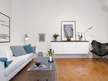 43平米瑞典公寓空间小也有大情调