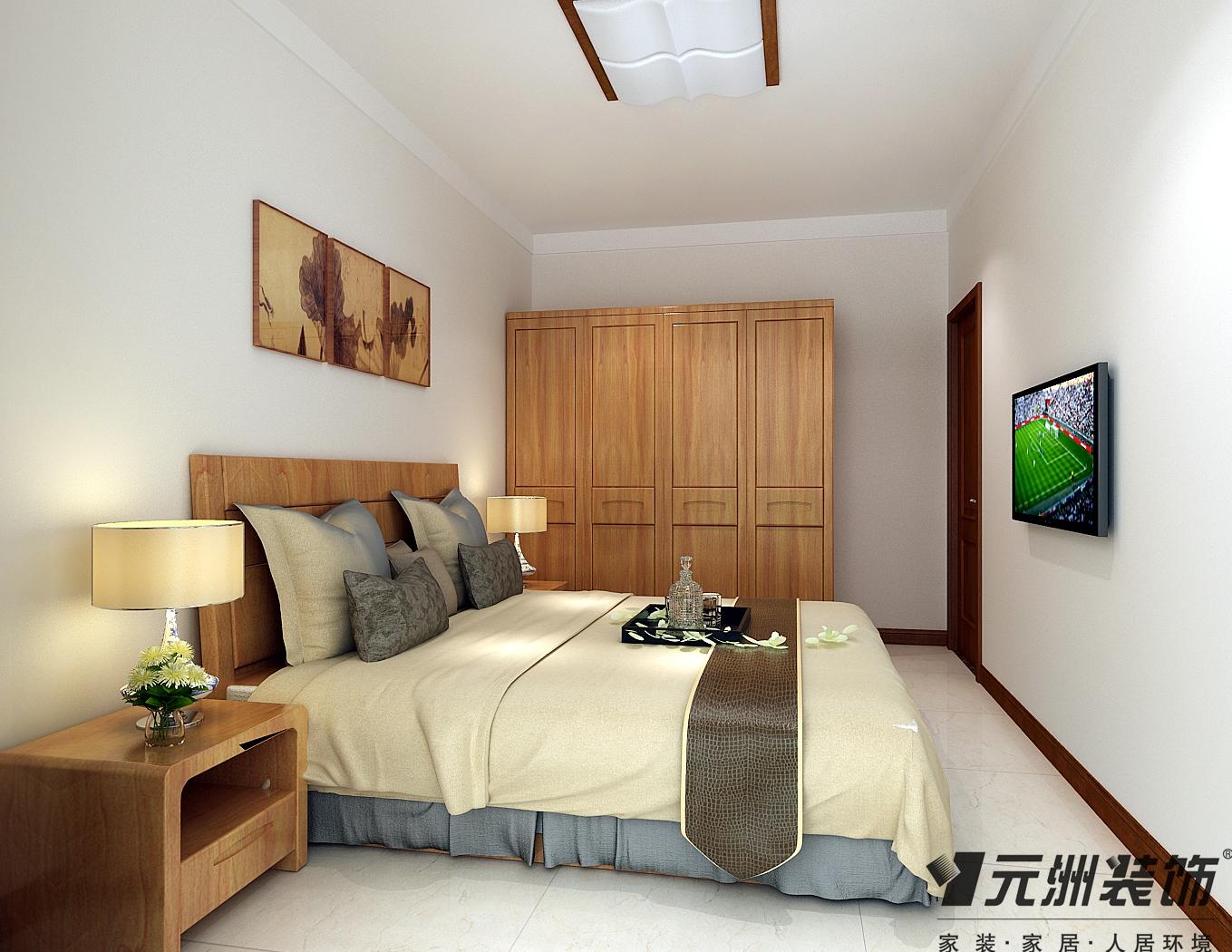 新中式风格 元洲装饰 卧室图片来自石家庄-小程在瑞城168平米新中式风格效果图的分享