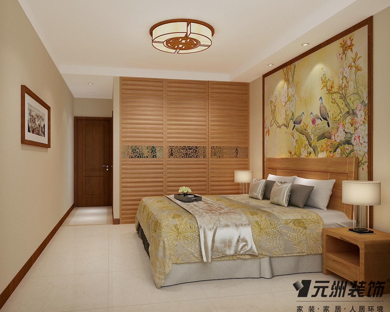 新中式风格 元洲装饰 国瑞城装修 卧室图片来自石家庄-小程在瑞城168平米新中式风格效果图的分享