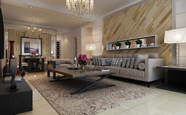 客厅沙发墙设计效果,茶几设计效果